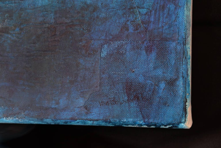I saw a new China, Contemporary Art Mixed Media Blue Acrylic on Canvas For Sale 3