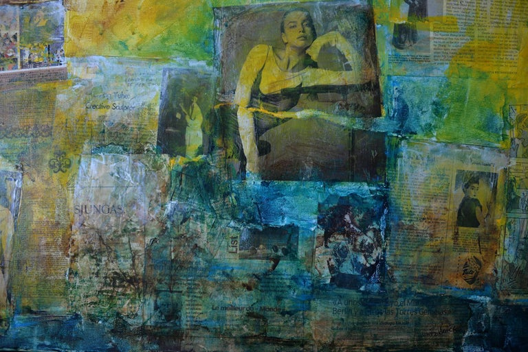 Well first of all I couldn't see her face - Abstract Mixed Media Art by Robert van Bolderick