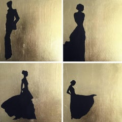 Silhouette, 4 paintings