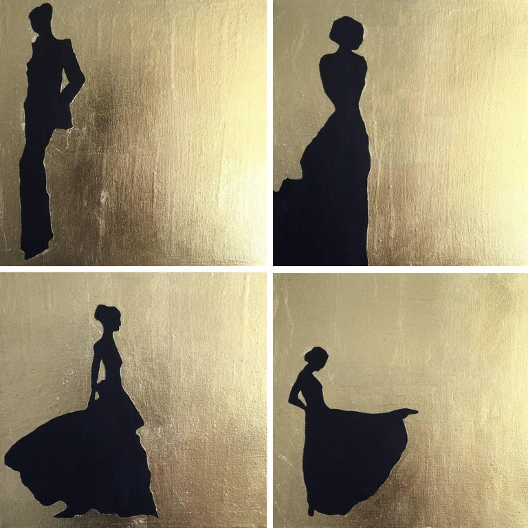 K. Odal Figurative Painting - Silhouette, 4 paintings
