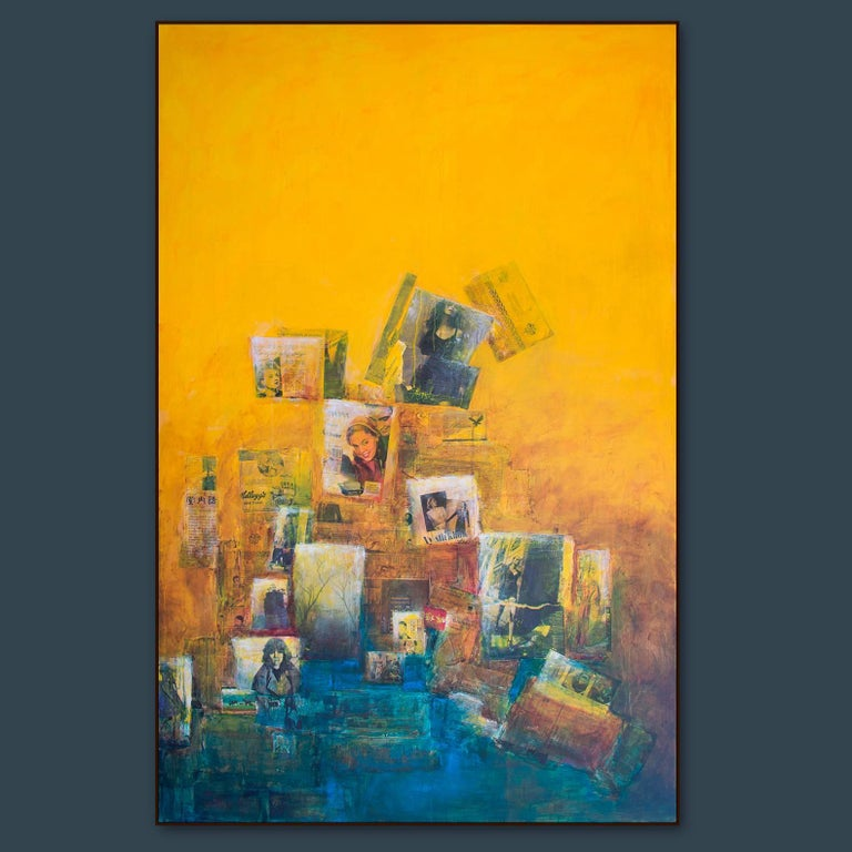The more I look at it, the more I like it, yellow ochra painting For Sale 1