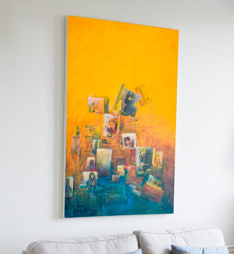 The more I look at it, the more I like it, yellow ochra painting For Sale 2