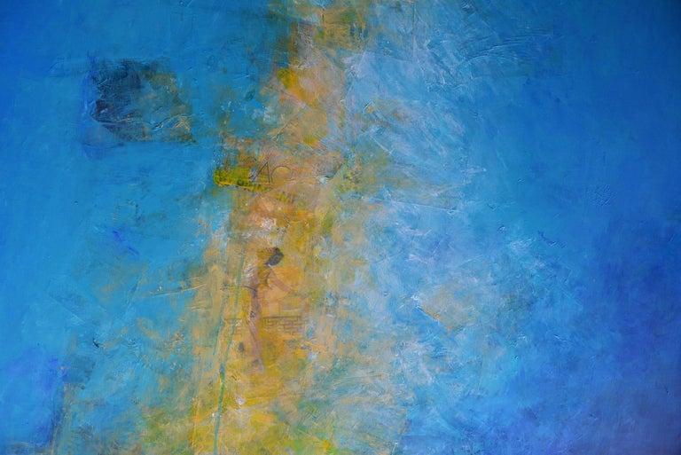 Le sacre du printemps, abstract coastline, light blue - Painting by Robert van Bolderick