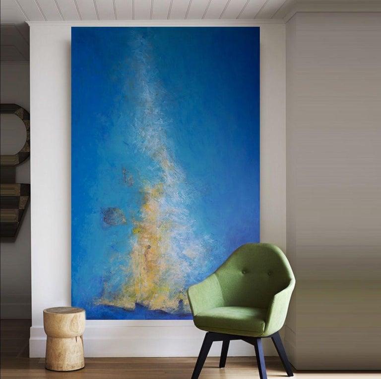 Le sacre du printemps, abstract coastline, light blue For Sale 1