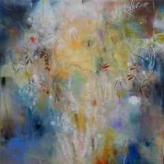 """""""Botany Cosmos"""" original abstract oil, pigment and mixed media by Deedra Ludwig"""