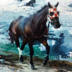 """Aron Belka - """"The Lightning Thief"""", contemporary original oil painting by Aron Belka"""