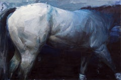 """""""Gray Ghost"""", original contemporary oil painting by Aron Belka"""