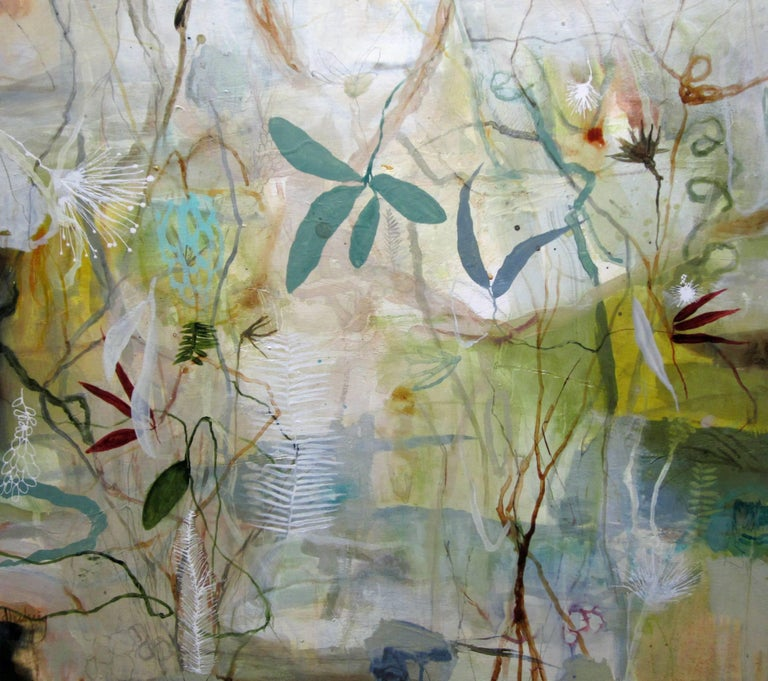 """Glades Habitat"" original abstract oil & mixed media on panel by Deedra Ludwig"