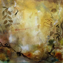 """Pathway"" original abstract oil and mixed media on canvas by Deedra Ludwig"