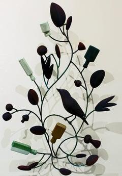 """Starling's Apothecary"" original mixed media bird sculpture by Emily Wilson"