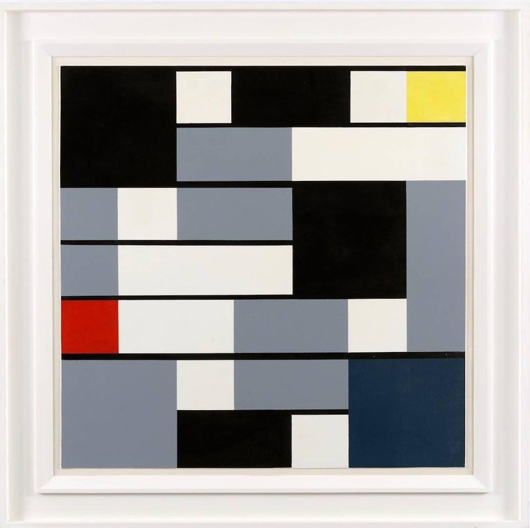 Joseph Ongenae Abstract Painting - Abstract Geometrical Composition