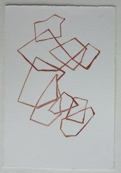 Calligraphy of water - 21st century watercolour - conceptual- Teresa Pera