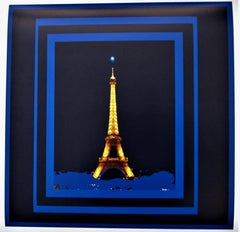 Celestial Brilliance Eiffel Tower    21st Century Contemporary Color Photography
