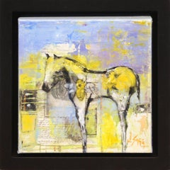 Abstract Horse Painting 'Untitled Horse' Small/Framed Original Wildlife Wall Art
