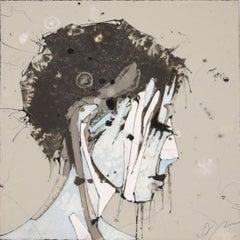 Urban Portrait Painting 'Faces 1' Freehand Oil Paint Drip/Drizzle Technique