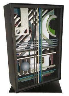 Modern Wood Sculpture '5th & 7th' Wooden Layer Art, Geometric Constructivist Art