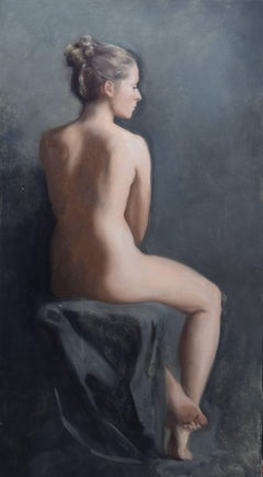 Nude - Contemporary, unique oil painting by Isabella Watling