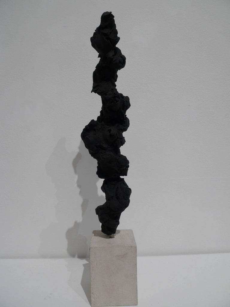 Black Totem no. 3 - Sculpture by Guy Haddon Grant