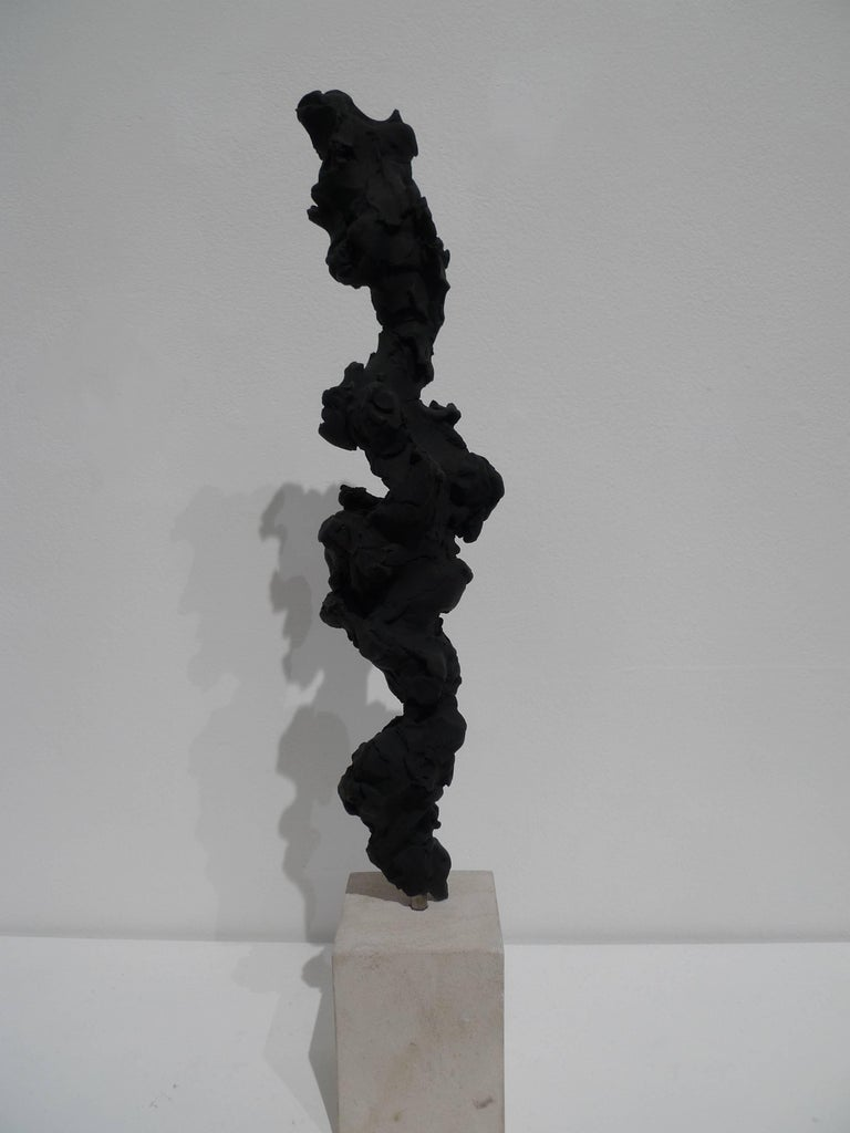 Black Totem no. 3 - Abstract Sculpture by Guy Haddon Grant