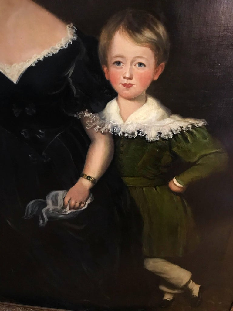 Huge Full length portrait of the Chandos-Pole Family Of Radbourne Hall England  - Black Portrait Painting by Unknown