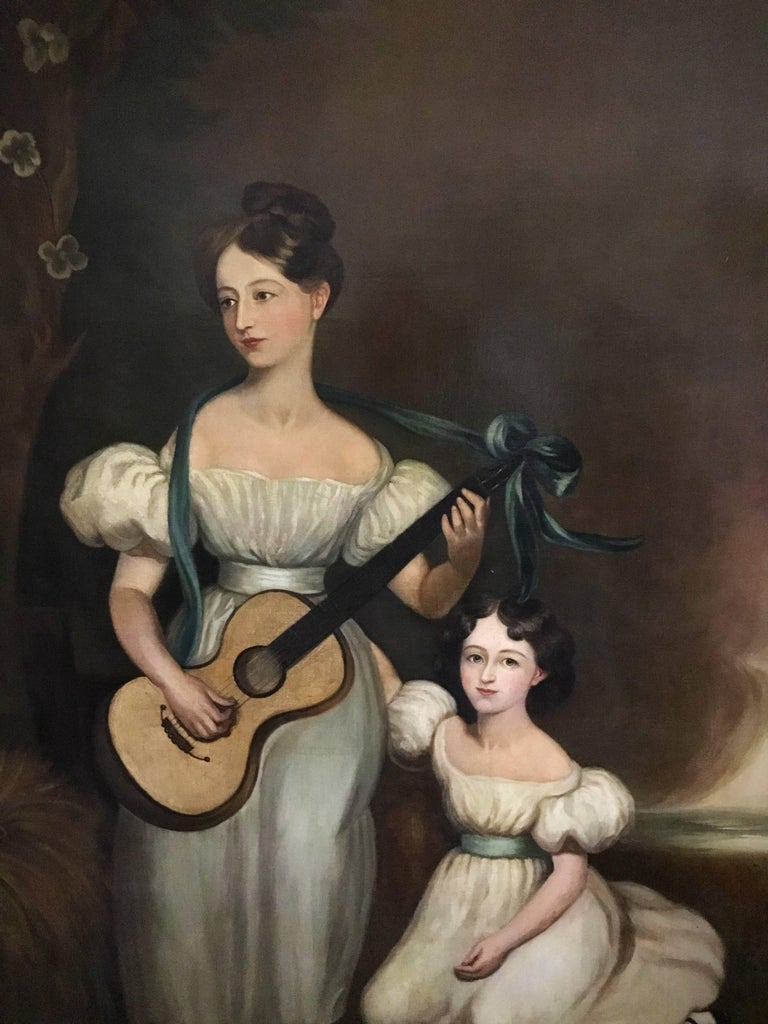 Huge Full length portrait of the Chandos-Pole Family Of Radbourne Hall England  2