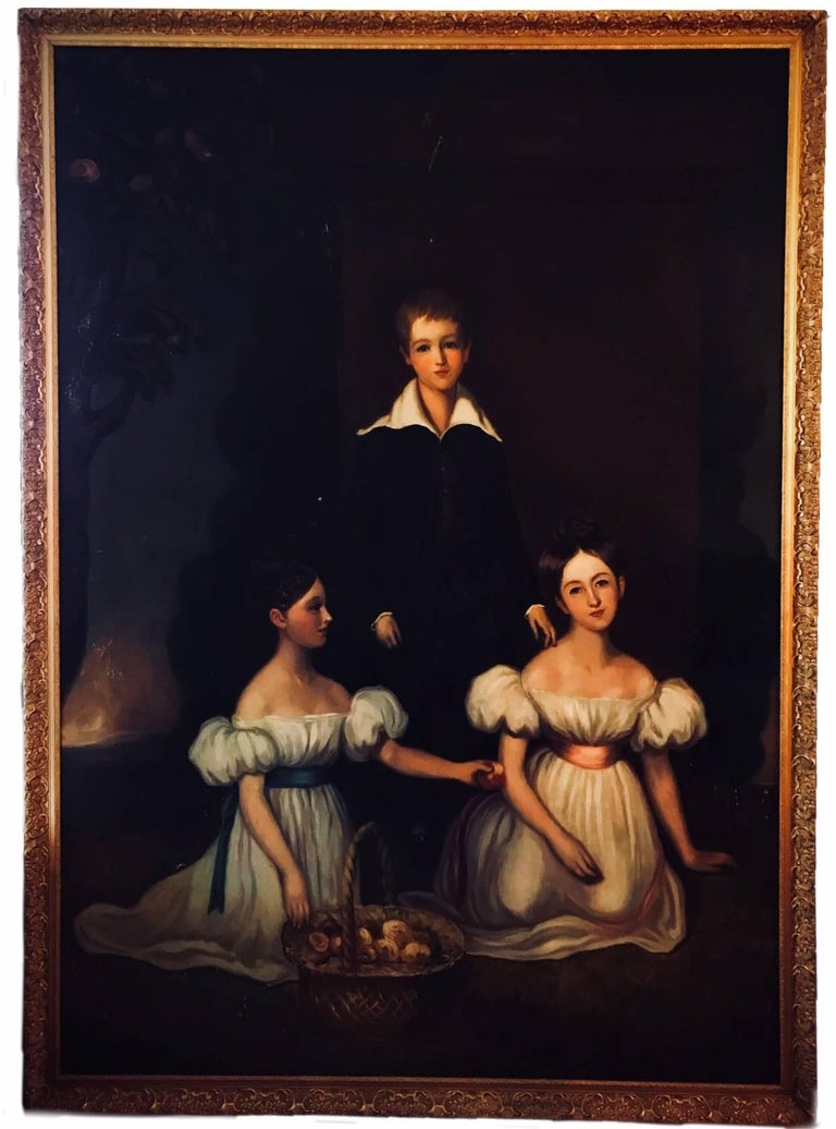 Three full length portraits of the Chandos-Pole Family from Radbourne Hall U.K For Sale 1