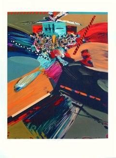 Hopi Eagle Dance, Pencil Signed Lithograph, Southwestern Art