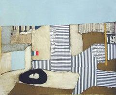 Villa Neuve, Signed Lithograph, Modernist Abstract Cityscape