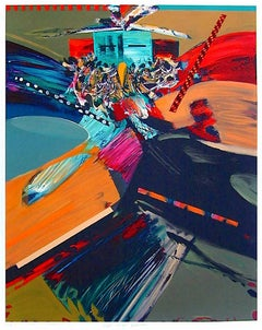 Hopi Eagle Dance, Signed Lithograph, Southwestern Art, Colorful Abstract Eagle