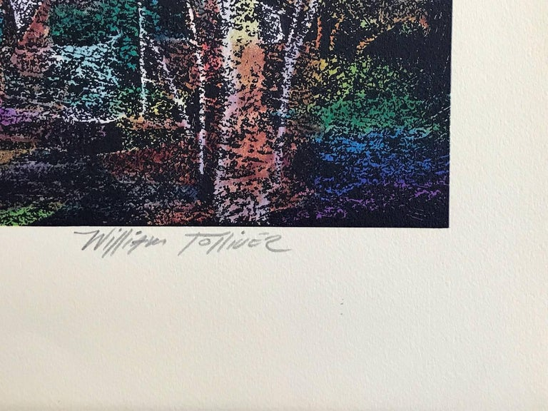 GOING TO CHURCH Signed Lithograph, Southern Landscape, African American Heritage For Sale 5