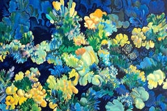 Coral 3 - Blue, Original Lithograph, Nature Abstract, Coral Reef