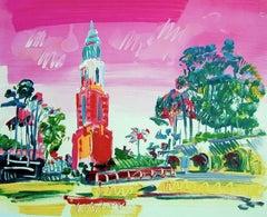 Balboa Park, San Diego Landmark, Colorful Abstract Landscape Print