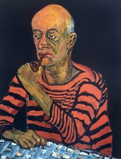 Portrait of John Rothschild, Red and Black Stripe Sailor Shirt, Expressionist