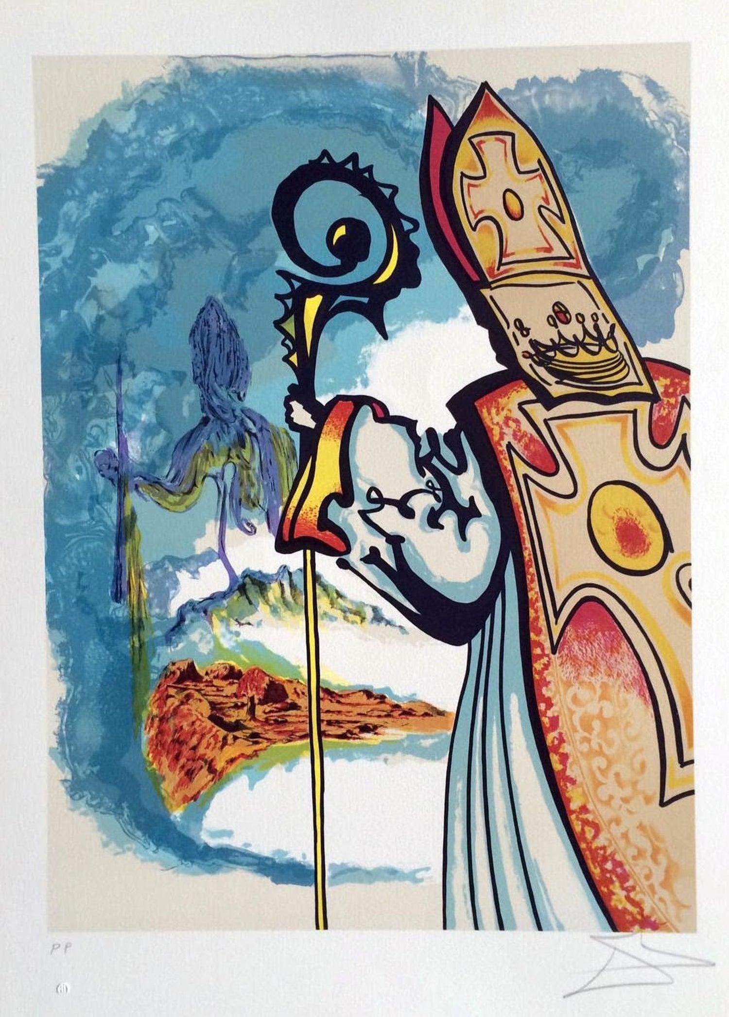 Salvador Dalí - La Lumiere de la Guerison, le Dentist, from the ...
