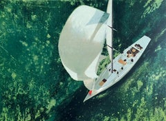 Constellation Below, Signed Lithograph, Sailboat Art, Cutter (boat)