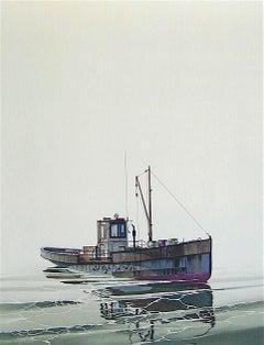 Cay Runner, Signed Original Lithograph, Realistic Runner Boat, Marine Art