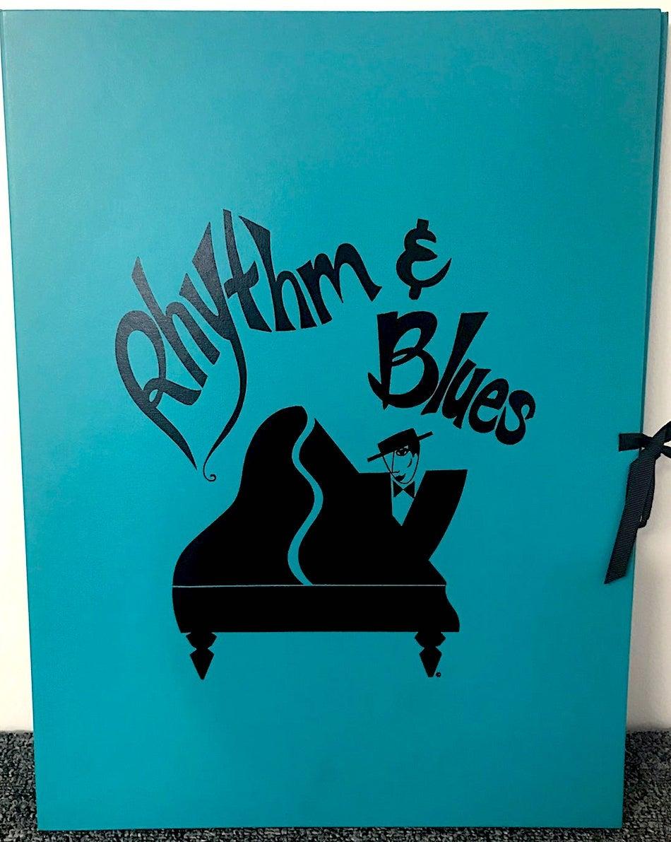 RHYTHM & BLUES SUITE Set 4 Signed Lithographs, Modern Art Deco Music Portraits