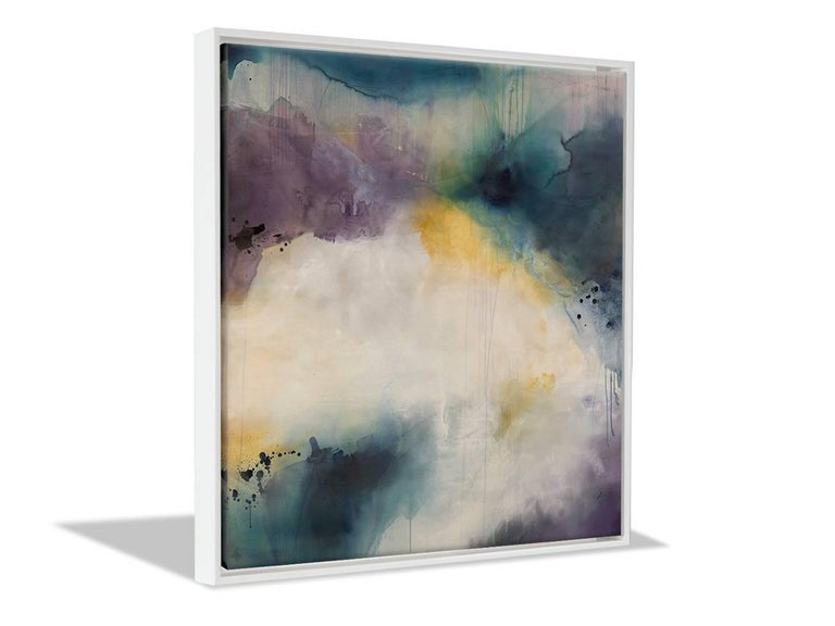 Saturation, Large-Scale Abstract Contemporary Painting, Teal, Purple, Yellow