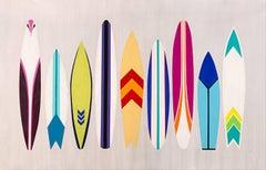 Surf On Through 2017, Pop ArtInspired Contemporary Fine Art, Acrylic on Canvas