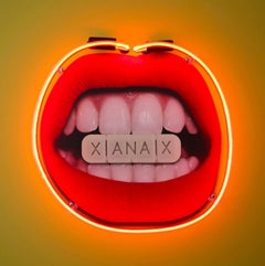 """Xanax"" - neon art, digital print."