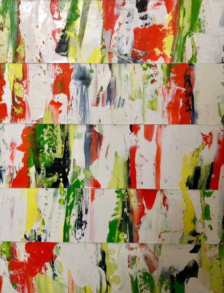 """Robert Greene Abstract Painting - """"Green"""" - contemporary abstract oil painting"""