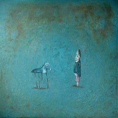 """""""After The Show"""" - Acrylic painting, blue tones"""
