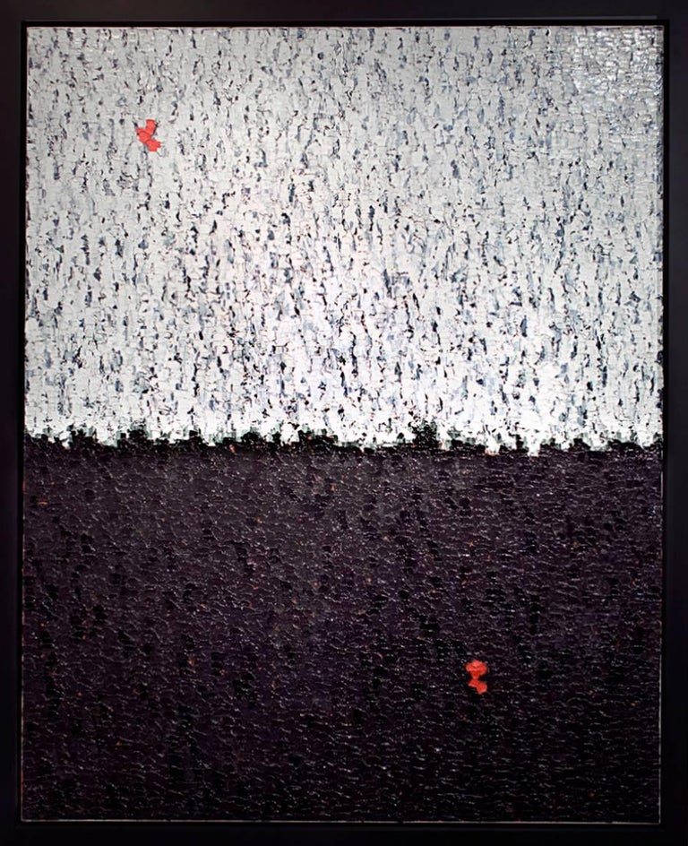 arnaud two red dots painting for sale at 1stdibs