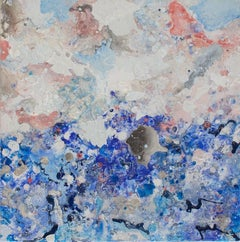 Dreamscape - Small 2 (Blue, Pink, Water, Ocean, Abstract Expressionist Painting)