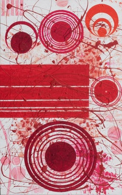 REDWORLD (Red, White, Abstract Expressionist Painting)
