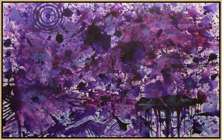 PurpleField - Painting by J. Steven Manolis