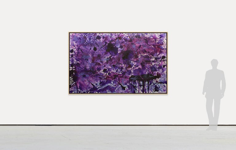 PurpleField - Abstract Expressionist Painting by J. Steven Manolis