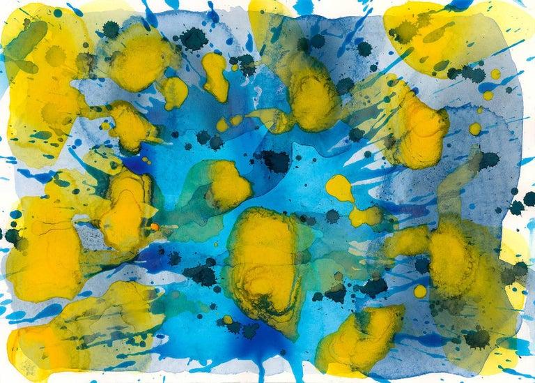 Splash - Sun & Water (Blue, Yellow Painting)