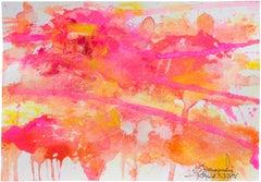 Flamingo (Pink, Orange Painting)