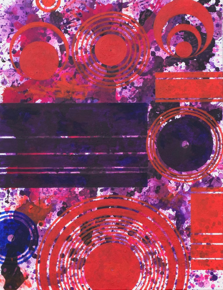 PurpleField (Windsor) (Purple, Red, Abstract Expressionist Painting)